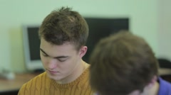Students listening to a lecture, Close-up Stock Footage