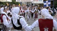 Folk Dancers Stock Footage