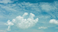 Fat fluffy cumulus cloud drifting lazily Stock Footage
