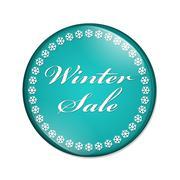 Winter sale button Stock Illustration