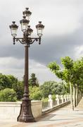 Classic street lighting pole Stock Photos