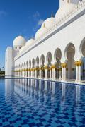 Sheikh zayed mosque at abu-dhabi Stock Photos