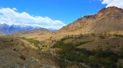 Panorama of the valley of the pass Fatula Stock Footage