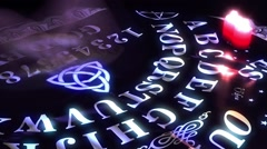 Ouija Board Game Stock Footage