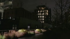 Construction of new high end residential real estate along the Highline Stock Footage