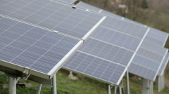 Solar panels - stock footage