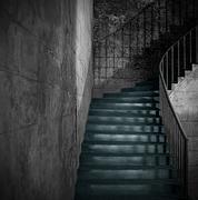 Monochrome ancient staircase Stock Photos