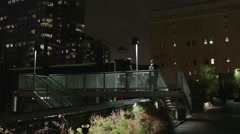 Tourists take photos on The Highline in New York City - stock footage