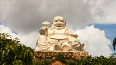 1080 - Vietnamese Happy Buddha in Vung Tau - stock footage