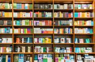 Stock Photo of Bookshelf In Library