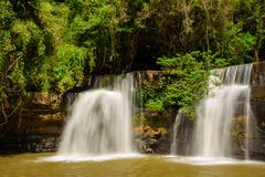sri dit waterfall - stock photo