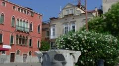 Venezia, Venice, little square Campo Bandiera e Moro 022 - Establishing Shot Stock Footage