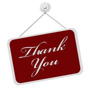 Stock Illustration of thank you sign