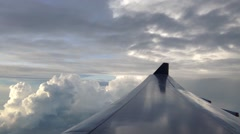 Flying inbetween dark cloud Stock Footage