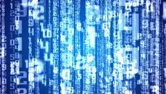Matrix background on Blue. Stock Footage