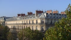 Stock Video Footage of Paris, view of mansard roofs or French roofs - Establishing Shot 009
