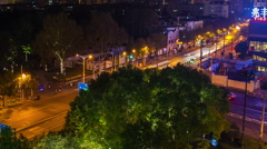 Shanghai Night Traffic in HD Stock Footage