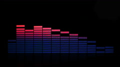 4k abstract music graphic equalise computer generated technology Stock Footage