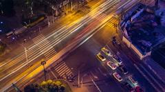 Vibrant Shanghai Traffic Scene Stock Footage