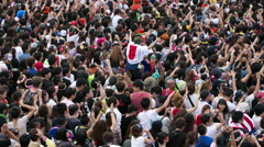 Crowds japan event entertainment stage music dj 4k Stock Footage