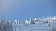Ski Slope Stock Footage