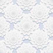 beautiful gray seamless pattern with flowers - stock illustration