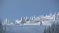 Winter Ski Slope Stock Footage