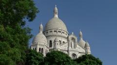 Paris, Domes of Sacré Coeur de Montmartre 011 Stock Footage