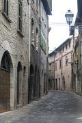 cagli (marches, italy) - stock photo