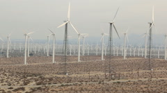 Wind Farm San Gorgonio Pass 5 Stock Footage