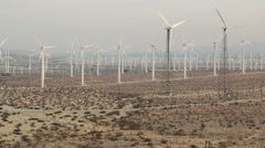 Wind Farm San Gorgonio Pass 6 Stock Footage