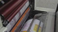 Printing machine,printing,printing industry (tripod) Stock Footage
