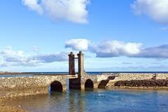 castle castillo de san gabriel in arrecife; lanzarote; canary islands - stock photo