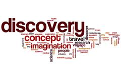 discovery word cloud - stock illustration