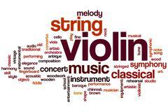 Violin word cloud Stock Illustration
