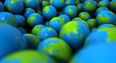 Gum ball earth globes Stock Illustration