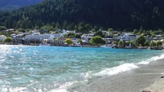 Queenstown in South Island, New Zealand. Stock Footage