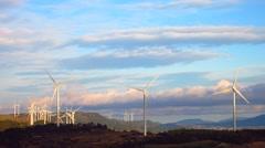 Wind turbines - stock footage