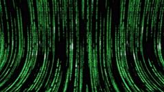 Matrix code 3d - 4k 30fps fast loop, green on black Stock Footage