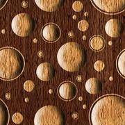 Bubble decorative wooden pattern for seamless background - stock illustration