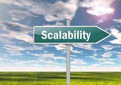 signpost scalability - stock illustration