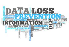 word cloud data loss prevention - stock illustration