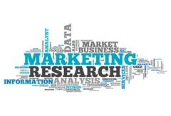 word cloud marketing research - stock illustration