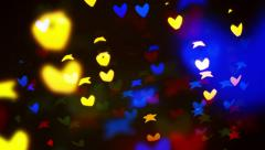 blinking bokeh particles - stock footage