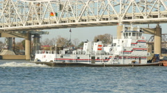 4K AEP Towboat Captain BIll Stewart 3 Stock Footage