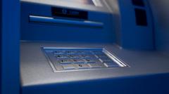 Atm Machine. Money Card Bank Stock Footage