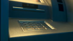 Atm Machine. Money Card Bank Stock Footage