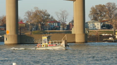 Walsh Construction Utility/Shuttle Boat 1 Stock Footage