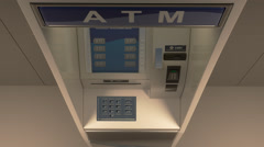 Money Bursting Out Of An Atm Machine Stock Footage