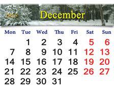 calendar for december of next year - stock illustration